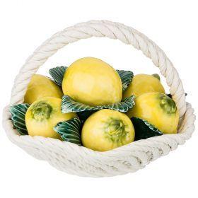 Декоративное овальное блюдо с лимонами диаметр=19 см. высота=14 см.-697-084
