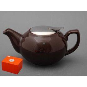 Заварочный чайник с металлической крышкой 600 мл.-470-016