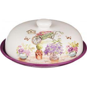 Блюдо для блинов с крышкой прованс высота=10 см.диаметр=23 см.
