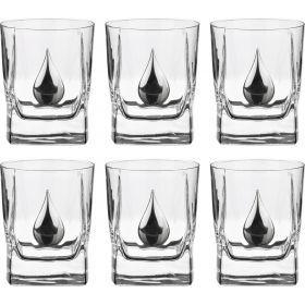 Набор стаканов для виски из 6 шт. 350 мл. высота=10 см. (кор=1набор.)-307-041