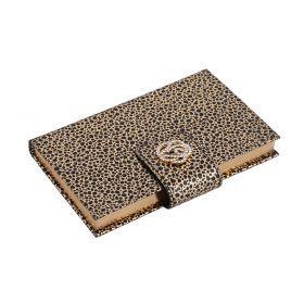 Ежедневник леопард с заклепкой на магните 19*12 см. 142 стр.с метал.украшением