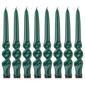 Набор свечей из 8 шт. лакированный зеленый-348-636