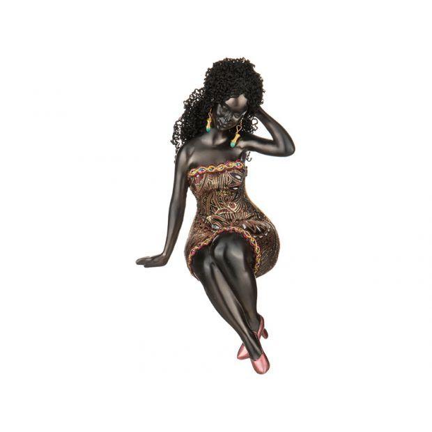 """Статуэтка """"африканка"""" 12*10 см.высота=28 см.-174-377"""