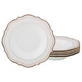 Набор из 6-ти суповых тарелок диаметр=21,5 см (кор=8набор.)-115-307