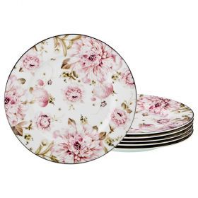 Набор из 6-ти десертных тарелок диаметр=19 см (кор=10набор.)-115-305
