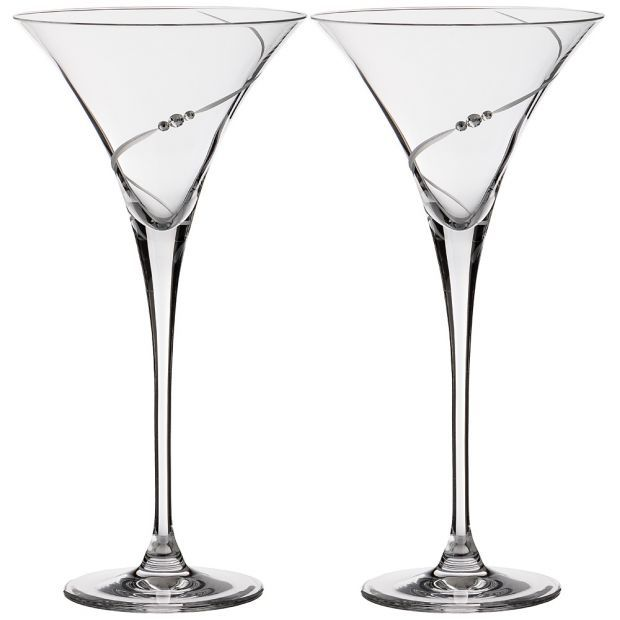 "Набор бокалов для мартини  из 2  штук ""силуэт"" 270 мл-681-104"