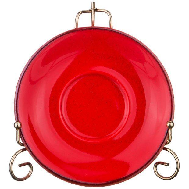Блюдце seasons большое для кофейной чашки 16 см цвет красный (кор=24шт.)-664-109