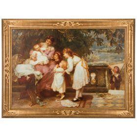 Картина 86,5*116,5*4 см.в золотой раме холст 70*100 см.