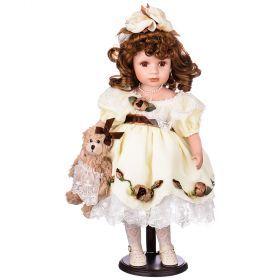 Кукла фарфоровая декоративная высота=48 см. (кор=6шт.)-346-183