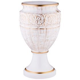 Кубок кретенс большой бежевый глянец диаметр=22 см.-742-305