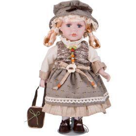 Кукла фарфоровая высота=30 см.-346-242