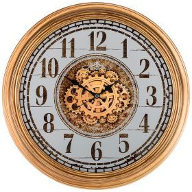 Часы настенные кварцевые диаметр 46 см диаметр циферблата 38,2 см (кор=8шт.)-207-316