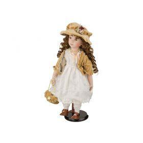 Фарфоровая кукла с мягконабивным туловищем высота=40 см.-485-223