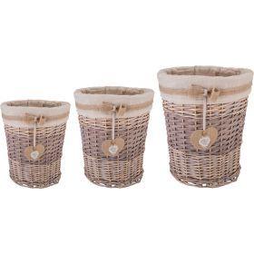 Набор корзин для белья из 3-х шт. l:ф45*53,m:ф37*43, s:ф31*34 см.-190-210