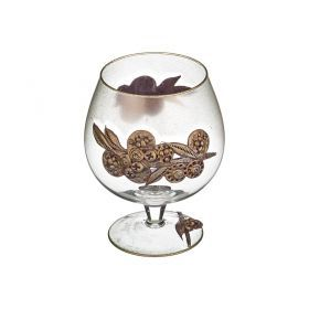 Ваза-бокал декоративная лилия лепка 1000 мл.без упаковки