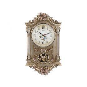 Часы настенные кварцевые с маятником 38*11,5*65 см. диаметр циферблата=24 см.