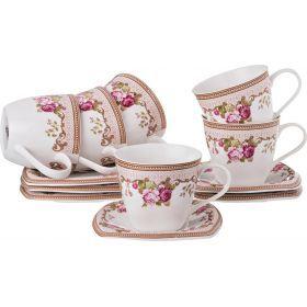 Чайный набор на 6 персон 12пр. 220 мл.-165-348