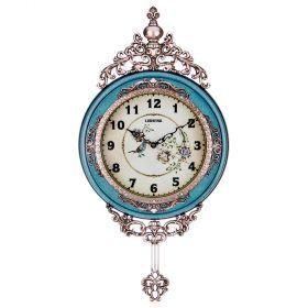 Часы настенные кварцевые с маятником 38*6,5*75 см. диаметр=27 см. (кор=6шт.)-204-232