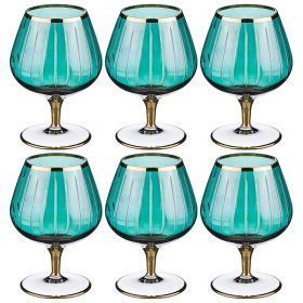 Набор бокалов для вина из 6 шт. 350 мл. высота=14 см.-103-549