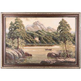 Гобеленовая картина горное озеро 126х82см.