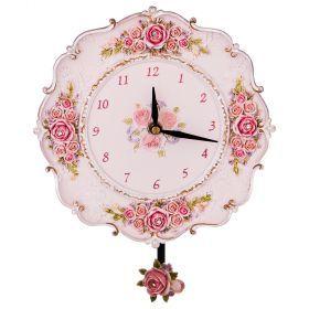 Часы настольные 22*22 см диаметр циферблата 12 см (кор=12шт.)-504-218