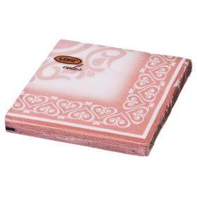 Салфетки бумажные 2-х слойные 33*33 см золото-423-229-2