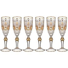 Набор бокалов для шампанского из 6 шт. pk500 180 мл. высота=21,5 см.