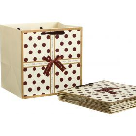 Комплект бумажных пакетов из 10 шт.30*30*25 см.-521-090