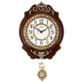 Часы настенные кварцевые с маятником 32*7,5*55 см. диаметр=19 см. (кор=15шт.)-204-230