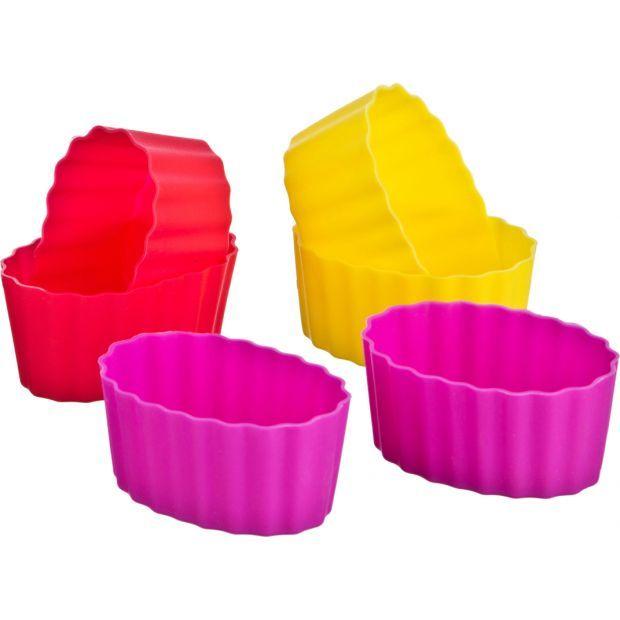 Набор силиконовых форм для выпечки из 6шт.диаметр=7 см. (мал=20шт./кор=80наб.)-710-115