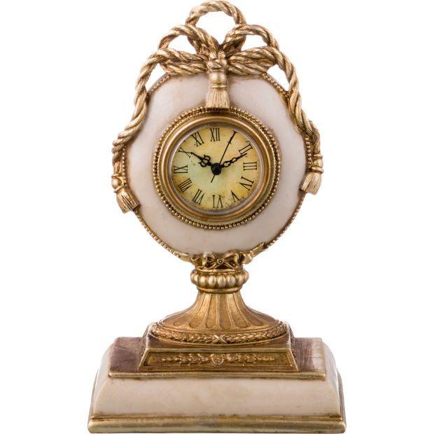 Часы настольные 16*10*26 см. диаметр циферблата=6 см.-251-167