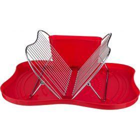 Подставка для посуды настольная+поддон пластик 44*35*18 см.-917-016