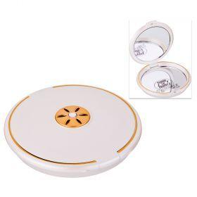Зеркало карманное диаметр=8 см. высота=1,5 см. увеличение в 5 раз-416-091