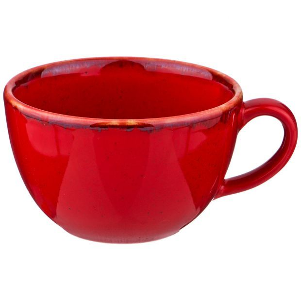 Чашка seasons 340 мл цвет красный (кор=24шт.)-664-211
