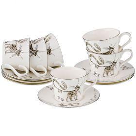Чайный набор на 6 персон, 12 пр. 220 мл. (кор=6набор.)-264-929