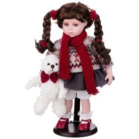Кукла фарфоровая высота=36 см.-346-228