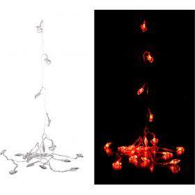 Электрогирлянда со светодиодами  220в 6 м 40 led   красный-857-004