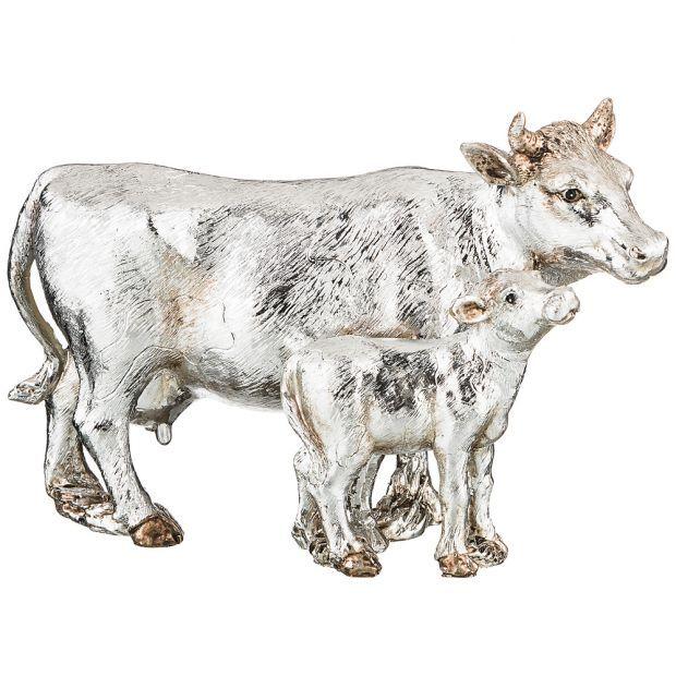"""Фигурка """"корова с теленком"""" 20*9*13 см. (кор=12шт.)-79-177"""