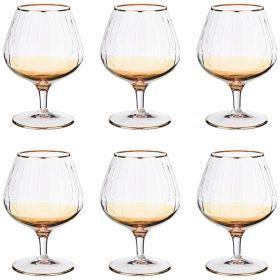 Набор бокалов для коньяка из 6 шт. 350 мл. высота=14 см.-103-585