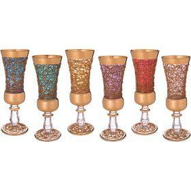 Набор бокалов для шампанского из 6 шт.250 мл.высота=22 см.