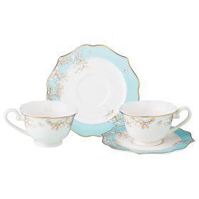 Чайный набор на 2 персоны 4 пр. 200 мл (кор=8набор.)-115-295