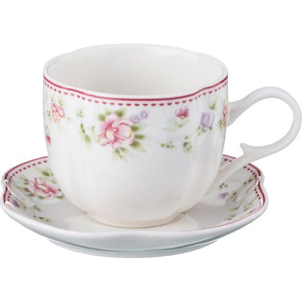 """Чайный набор на 1 персону """"екатерина"""" 2пр. 200 мл.-54-414"""