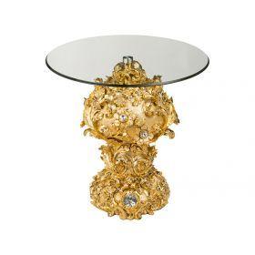Подставка интерьерная+стекло высота=58 см.диаметр=60 см.