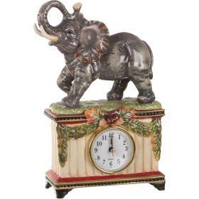 Часы настольные слон 17*7 см. высота=25 см. диаметр циферблата=6 см.