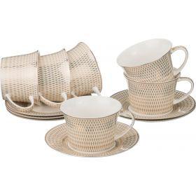 Кофейный набор на 6 персон 12 пр. 150 мл.-760-413