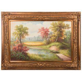 Картина масляная на холсте 90*60 см. багет 118*88 см.-107-1078