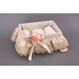 Набор: корзина 24*16*10 см. с полотенцами 30*30 см. без упаковки-294-505