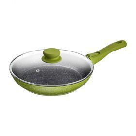 Сковорода с крышкой, антипригар.покрытием и съемной ручкой, 24см. без упаковки-918-187