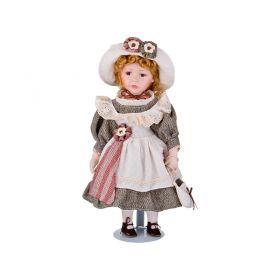 Кукла фарфоровая высота=40 см.-346-235