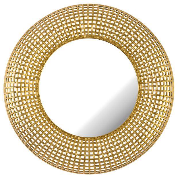 "Зеркало настенное ""swiss home"" диаметр=72 см цвет: золото (кор=4шт.)-220-422"